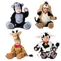 Bebé Navidad Halloween Cosplay Disfraz Vacas perros orangutanes jirafas Mono Niños Niñas Ropa Set Niños Trajes