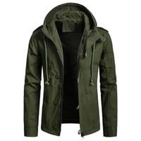 2019 uomini giacca cappotto sezione moda trench cappotto uomo a vento Brandbreaker Brand Casual Fit OverCoat Giacca Capispalla grande taglia S-3XL 819