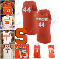 Benutzerdefinierte Syrakuse orange Basketball Jersey NCAA College Bourama Sidibe Jerami Grant Dion Kellner Dave Bing Carter-Williams Derrick Coleman