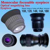 Lente de aumento óptica Aumento 10X 14X 18X Ocular enfocable monocular