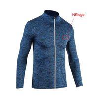 NUEVO 2019 primavera otoño deporte al aire libre GYM Fitness correr Joggers camuflaje Zipper cardigan top chaquetas hombres