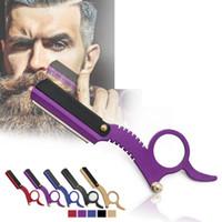 Hombres Professional Edge Straight Barber Razor Classic Travel Home Barber Razor Barba Shaving Herramientas de depilación 5 estilos RRA1515