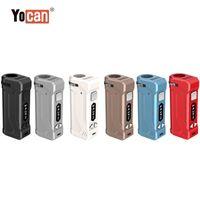 100% autêntico yocan uni box mod yocan uni pro 650mAh pré-aquecer a bateria de tensão variável VV com adaptador magnético 510 para óleo grosso
