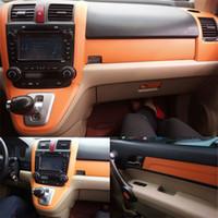 Для Honda CRV 2007-2011 Интерьер Центральная панель управления Дверные ручки 3D / 5DCarbon Fiber наклейки деколь автомобиля укладки Accessorie