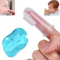 brosse à dents doigt bébé enfants bébé doux doigt brosse à dents pour bébé nouveau-né brosse à dents doigt silicone caoutchouc propre formation Brosse de massage