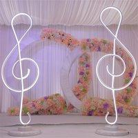 Nuovo arrivo altezza 110 centimetri Nota musicale nozze forma Colonne Romane ha condotto la luce fino strada piombo centro di nozze decorazione del partito evento fase