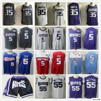 En Kaliteli Yeni Mens Deaaron 5 Fox Jersey Marvin 35 Bagley III Chris 4 Webber Jason 55 Williams Basketbol Formaları