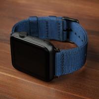 Bracelet pour Apple montre 5 bandes 44mm 40mm band iWatch 42mm 38mm sport bracelet bracelet en nylon d'Apple montre 4 3 2 1 42/38 mm