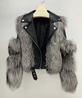 OFTBUY 2020 chaqueta de la capa del invierno de las mujeres reales piel natural de piel de zorro collar Outwear caliente grueso 100% cuero genuino informal Sreetwear