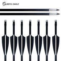 12st 28/29/30 / 31,5-Inche Spine 500, Stahlspitze Bogen Fiberglass Pfeile für Compound Recurve Bogen-Pfeil Targeting Schießstand
