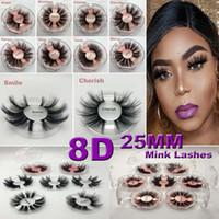 5D Vison Cils 25mm Longue Durée De Cils Extension 100% À La Main 3D Cils De Vison Wispy Cils Extension Faux Cils