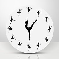 Ballet Dancer Modern Design Wall Clock Charming Ballerina 3D...
