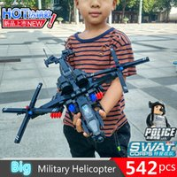 542pcs Military Helicopter Swat Team Model Building Blocks C...