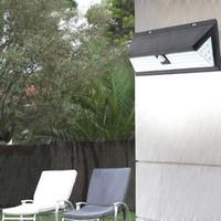 54/90/118 LED Solar Light Solar Power Outdoor Luce da giardino Impermeabile PIR Sensore di movimento Pathway Energy Saving Street Wall Lamp