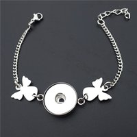 Stainless Steel Fairy Angel 18mm Snap Buttons Bracelet Noosa...