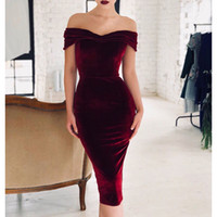 Off Shoulder Bodycon Bandage Dress Vestidos Women Summer Sex...