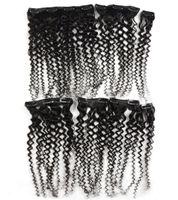 8pcs Kinky ricci clip in estensioni dei capelli umani testa completa imposta 100% naturale capelli umani Clip 100g clip afro crespi nelle estensioni