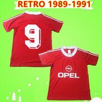 Bayern Munich jersey 1989 1991 ريترو لكرة القدم الفانيلة المنزل المنزل الأحمر الكلاسيكية خمر 89/91 قمصان كرة القدم ماثي WOHLFARTH MCLNALLY BENDER ميهايلوفيتش CORDES KOGL