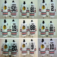 2015 Chicago Blackhawks Winter Classic White Hockey Jersey 88 Patrick Kane 19 Jonathan 2 Keith 10 Sharp 50 Crawford 65 Shaw Maglie