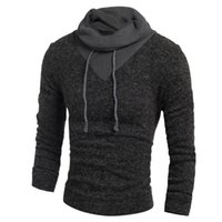 Pullover Men winter Clothes Soild Color Hedging Turtleneck M...