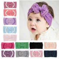 Baby Big Bow Headband Kids Girls Knot Bows Headwrap Wide Nyl...