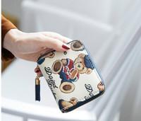 Freies verschiffen Hohe qualität England frauen Cartoon Bär schöne brieftasche Münze pures high-end luxus designer reißverschluss geldbörse Geschenk brieftasche 001
