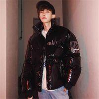 Мода корейский стиль INS мужские яркие лица 2019 зима новых людей зимы Puffer Jacket Одежда Hip Hop Parka Яркое Bubble Coat