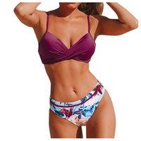 مثير عالية الخصر بيكيني ملابس النساء ملابس السباحة خمر الرجعية بيكيني مجموعة زائد حجم الاستحمام الدعاوى الصيف بحر