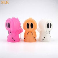 Perfect little silicone bong ghost tobacco pipe with dab spo...