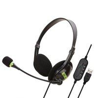 Soyto SY440MV Head-montado Headset USB do computador em linha Classe de ensino Gaming Headphone escritório pode Mute Jingmai