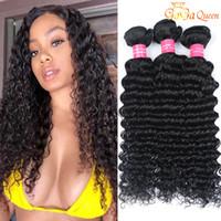 البرازيلي موجة عميقة مجعد لحمة الشعر غير المجهزة البرازيلي موجة عميقة حزمة الشعر 4 قطع البرازيلي العذراء الشعر البشري النسيج الطبيعي الأسود