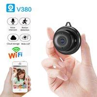 V380 Mini WiFi Kamera 1080P Kablosuz Ev Güvenlik WiFi IP kamera CCTV IR Gece Görüş Hareket Algılama Bebek Monitörü P2P V380 Camcord