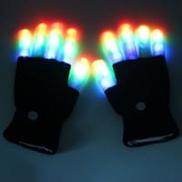 Amélioré Beau cool Rave LED clignotant gant lueur Party Light pointe de la lumière du bout des doigts Gants Party Colorful Accesssories