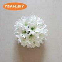 28cm 릴리 실크 꽃 공 인공 DIY 모든 종류의 꽃 머리 결혼식 장식 벽 호텔 숍 창 테이블 accessorie