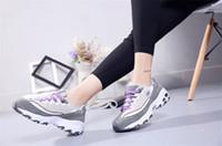 2019 Hot Sale outono e inverno novos esportes respirável sapatos casuais ao ar livre da forma do estudante mulheres com caixa