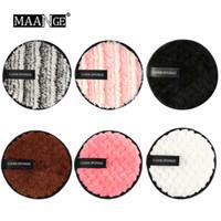 6 teile / los Faul Make-Up Entferner 6 Farben Baumwolle Gesicht Wiederverwendbare Weiche Schwamm Reinigung Bilden Puff Kosmetische Werkzeuge