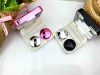 미러 컬러 콘택트 렌즈 케이스 컨테이너 귀여운 사랑스러운 여행 키트 상자 여성 Epacket 고품질 반사 커버 콘택트 렌즈 케이스
