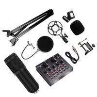 Neue BM 800 Studio-Mikrofon-Kits mit Filter V8 Soundkarten-Kondensator-Mikrofon-Bundle-Datensatz KTV Karaoke-Smartphone-Mikrofon