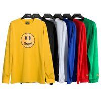 Bahar Lüks Erkek Tişörtü Tasarımcı Polo Gömlek High Street Style Nakış ÇEKTİ EVİ Uzun Kollu Baskılı Giyim Kadın Marka Toptan