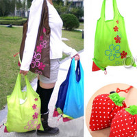 Eco Storage Handbag Strawberry Foldable Shopping Bags Reusab...