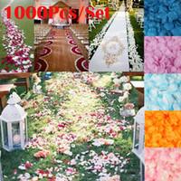 Новый 1000 шт. искусственный шелк лепестки роз DIY искусственные цветы романтический цветок лист для свадьбы украшения дома