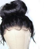 """Pre pizzico Glueless 360 Frontal del merletto dei capelli umani parrucche con capelli del bambino 8 """"-26"""" Full brasiliano Remy parrucca diritta del merletto dei capelli"""
