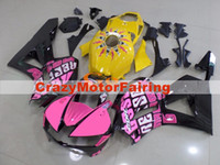 3Gifts New ABS Injection Mold moto Fairings Kit 100% Fit Per Honda CBR600RR F5 13 14 15 16 17 2013-2017 carene nero rosa giallo