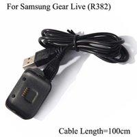 Para Samsung Gear Live R382 CARGA CRADLE SMART WATCK SEAT SOAT THARGER SM-382 con cable de carga USB 1M