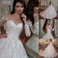 Дубай арабский халат де мари принцесса бальное платье свадебные платья 2020 элегантные кружева аппликация блестящий бисером кристалл талии свадебные платья