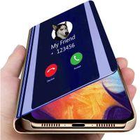 Smart Mirror Leather Case For LG V60 V50 V40 V30 Plus الكمالية Clear Phone Case For LG K61 K50S K50 Q60 G8