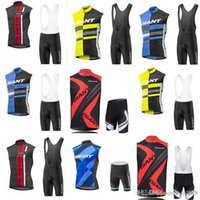 Equipo gigante Equipo Ciclismo Sin mangas Jersey Chaleco (BIB) Shorts Sets 9 Color Bicycle Sweatshirt Ropa Summer transpirable Deporte Quick Seco C2105