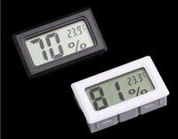 تحديث جزءا لا يتجزأ من شاشات الكريستال السائل الرقمية ميزان الحرارة رطوبة درجة الحرارة الرطوبة اختبار ثلاجة التجميد متر مراقب أسود اللون الأبيض