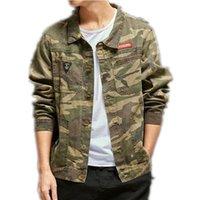 Mens Camouflage Denim Veste Manteau Heurt Heurt Jaquetta Masculino Jeans Veste et manteaux Mode Design Automne Marque Vêtements Taille S-3XL