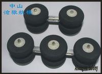 Livraison gratuite 4 roues ou 6 roues du train d'atterrissage fonction d'amortissement pour le plan d'EDF modèle d'avion de rechange DIY part modèle Partie Diy